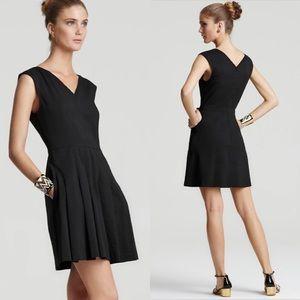 Theory Linen Blend Narida Crunch Flare Dress